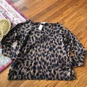Loft NWT cheetah print lightweight sweater